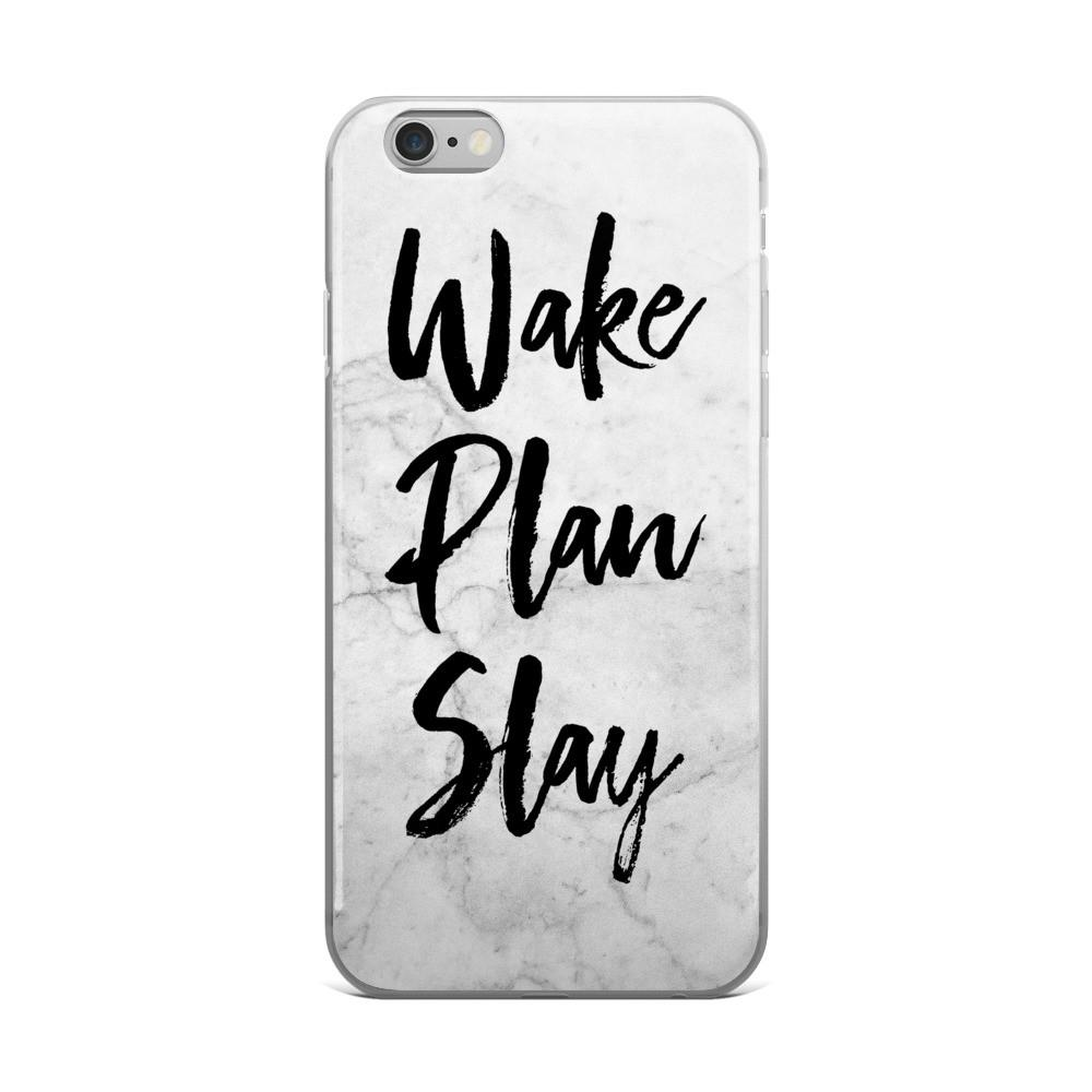 Wake / Plan / Slay 'Marble' iPhone case 5/5s/Se, 6/6s, 6/6s Plus Case - That Moxie Chick Studio