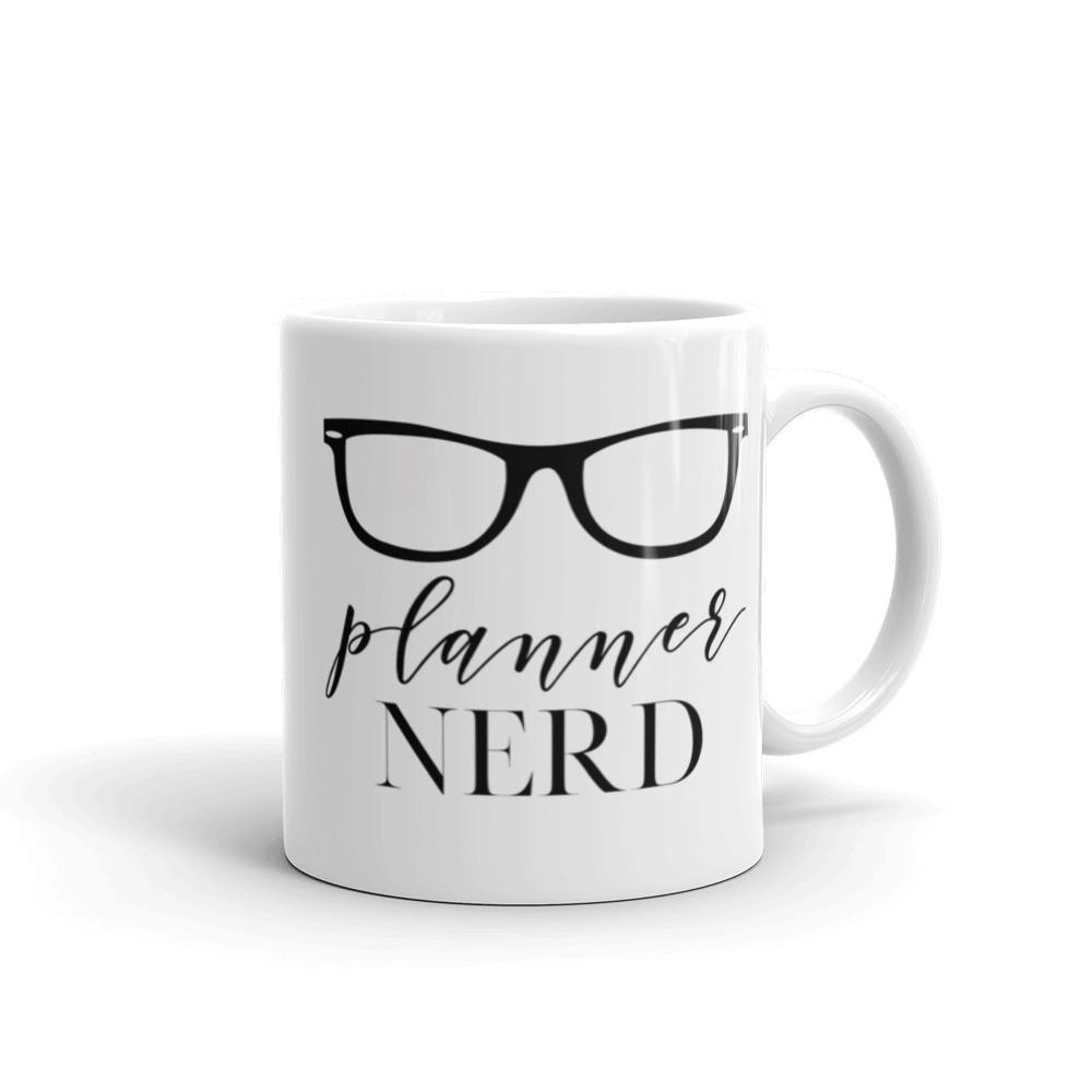 Planner Nerd Mug with Eyeglasses // New Release - That Moxie Chick Studio
