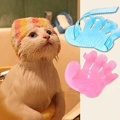 Best Ultra-Soft Silicone Washable Cat / Dog Grooming Shedding Massage / Bath Brush - Safe & No Scratching any more - Pink - 7ProductGroup