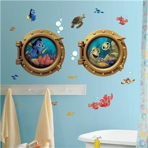 ... Giant FINDING NEMO WALL DECALS Kids Bathroom Stickers Disney Room  Décor:New Free Shipping By