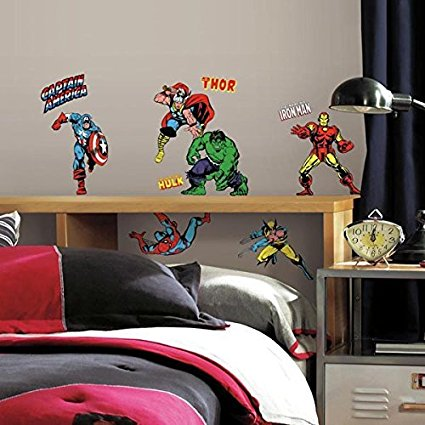 2 X Roommates Rmk2328Scs Marvel Character Peel And Stick Wall Decals, 32 Count - 7ProductGroup