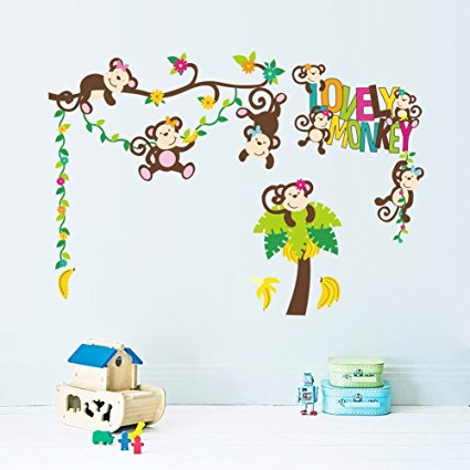 Best Huge Size Cartoon Wall Decals Removable Wall Decor Decorative Painting Supplies Stickers for Girls Kids Living Room Bedroom - 7ProductGroup
