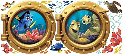 Giant FINDING NEMO WALL DECALS Kids Bathroom Stickers Disney Room Décor:New  Free Shipping By