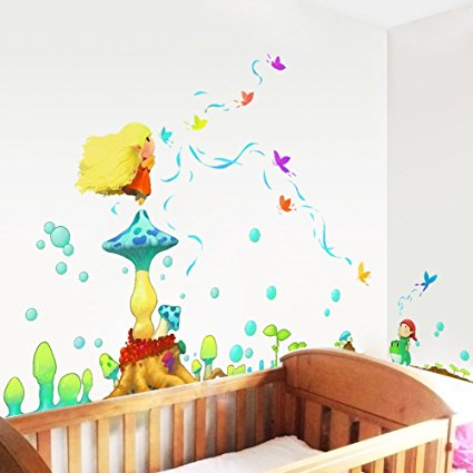 Giant Wall Decals for Kids Rooms, Nursery, Baby, Boys & Girls Bedroom - Peel & Stick, Large Removable Vinyl Wall Stickers. Premium, Eco-friendly, Bsci Approved. Bring Your Walls to Life! (Elf)