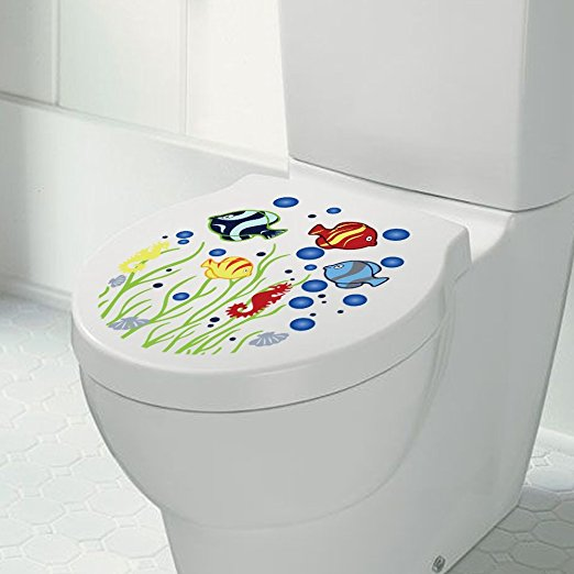 Bathroom Toilet Seat Vinyl Sticker Sign Best Quote Wall Decal From Wall Makers. Inspirational wall decals (Fish Tank) - 7ProductGroup