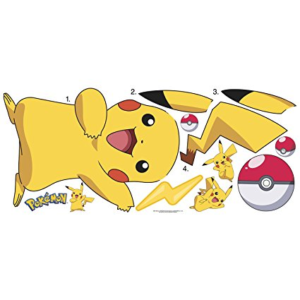 RoomMates RMK2536GM Pokemon Pikachu Peel and Stick Wall Decals - 7ProductGroup