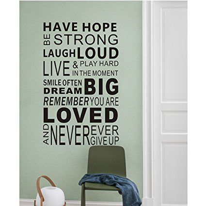 Inspirational wall decals quotesword wall sticker quotesfamily inspirational wall art sticker vinyl