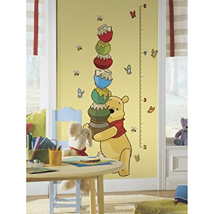 Roommates Rmk1501Gc Pooh And Friends Peel & Stick Growth Chart - 7ProductGroup