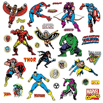 Roommates Rmk2328Scs Marvel Character Peel And Stick Wall Decals, 32 Count - 7ProductGroup