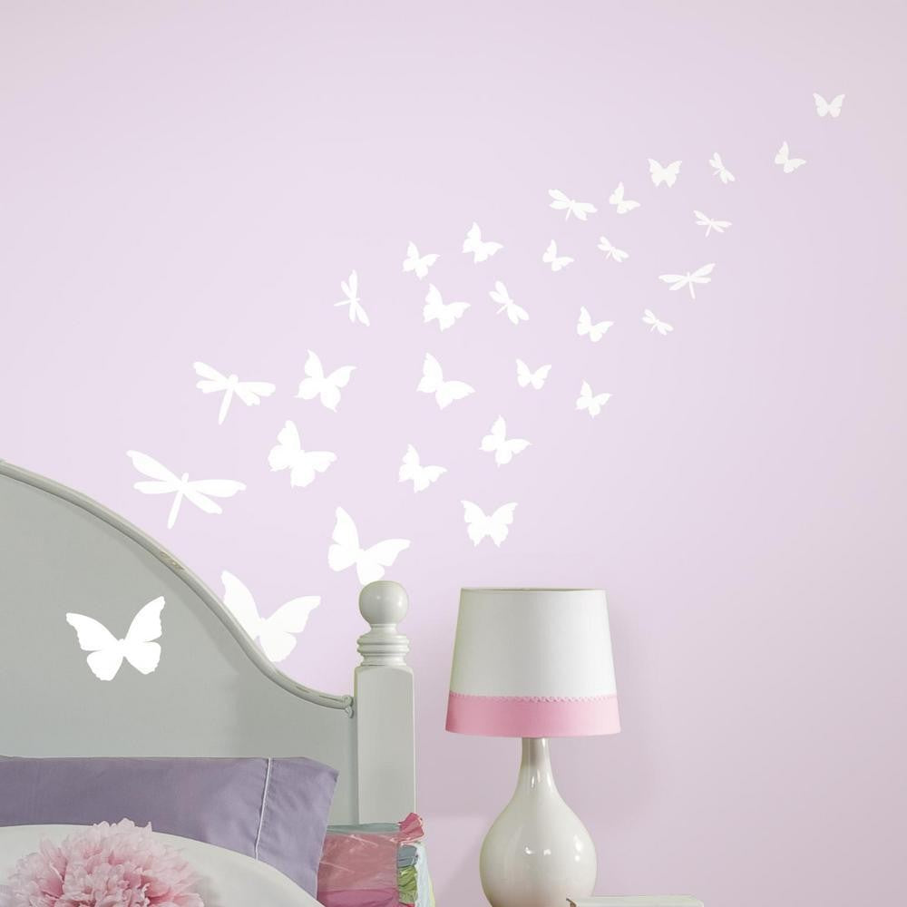 Butterflies & Dragonflies Glow in the Dark Wall Decals - 7ProductGroup