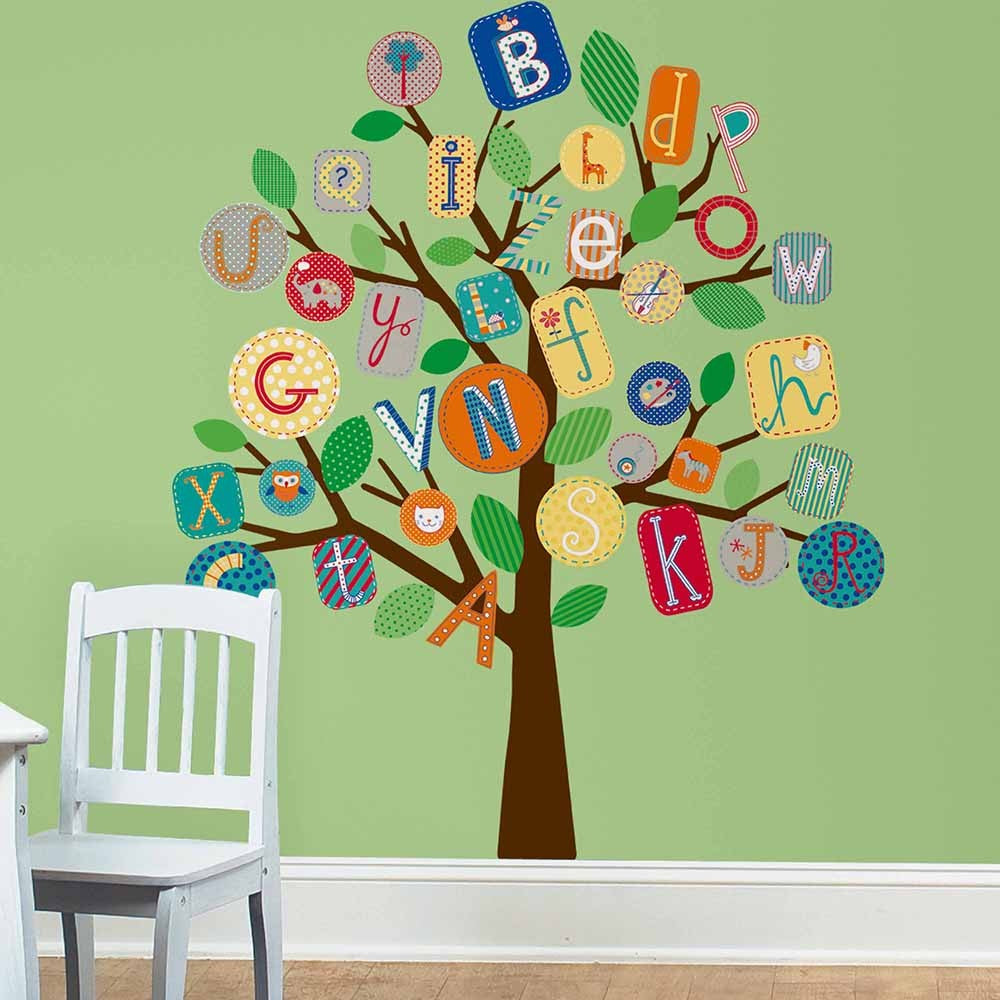 Primary ABC Tree Giant Wall Decals - 7ProductGroup