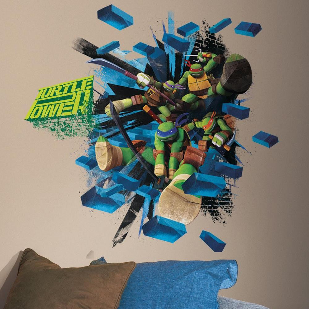 Teenage Mutant Ninja Turtles Brick Poster Giant Wall Decal - 7ProductGroup