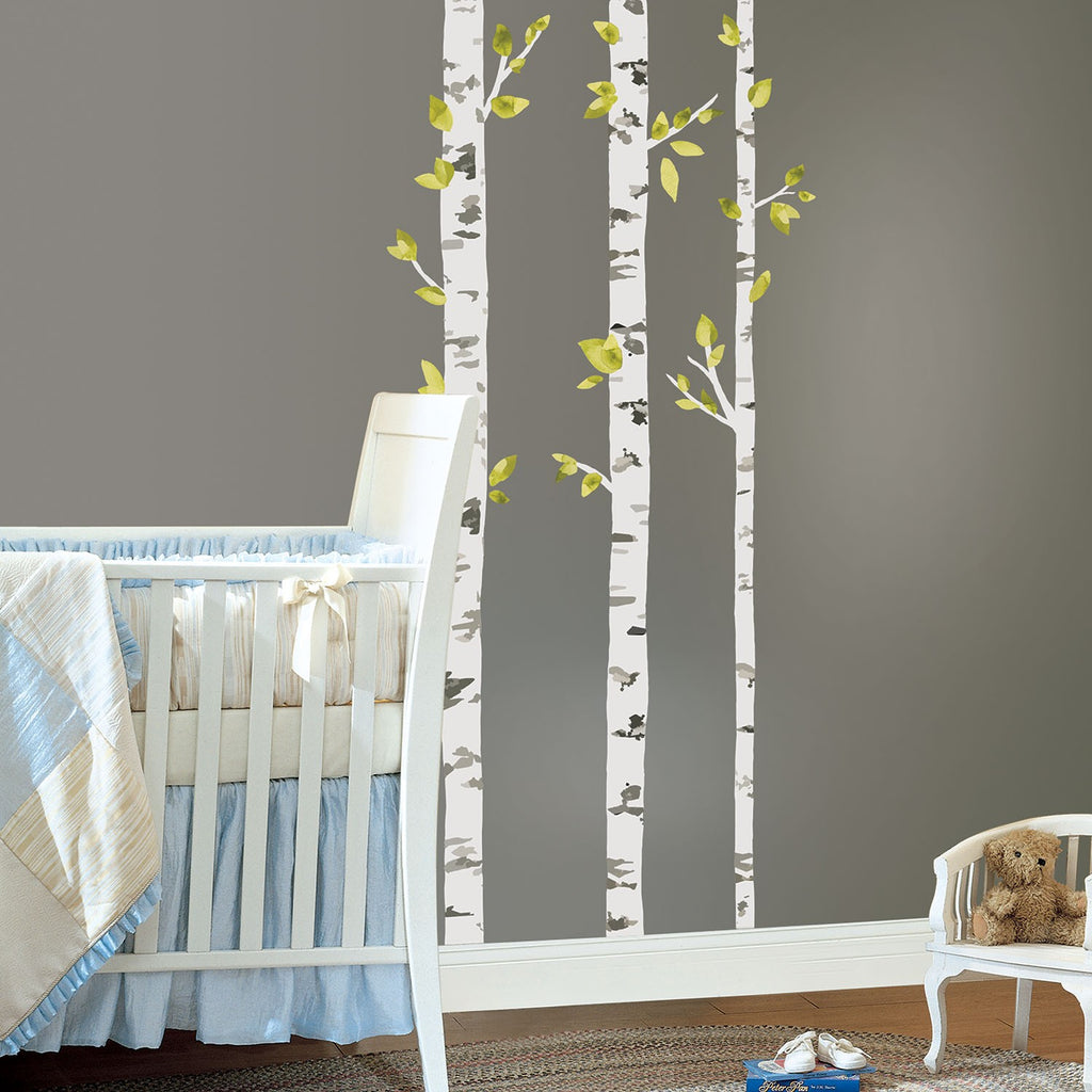 Birch Trees Peel and Stick Giant Wall Decals - 7ProductGroup