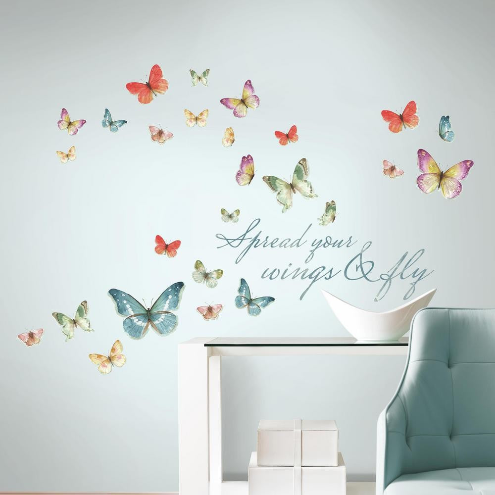 Lisa Audit Butterfly Quote Wall Decals - 7ProductGroup
