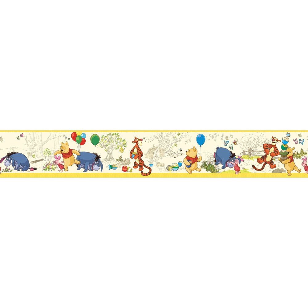 Pooh & Friends Toile Wallpaper Border - 7ProductGroup