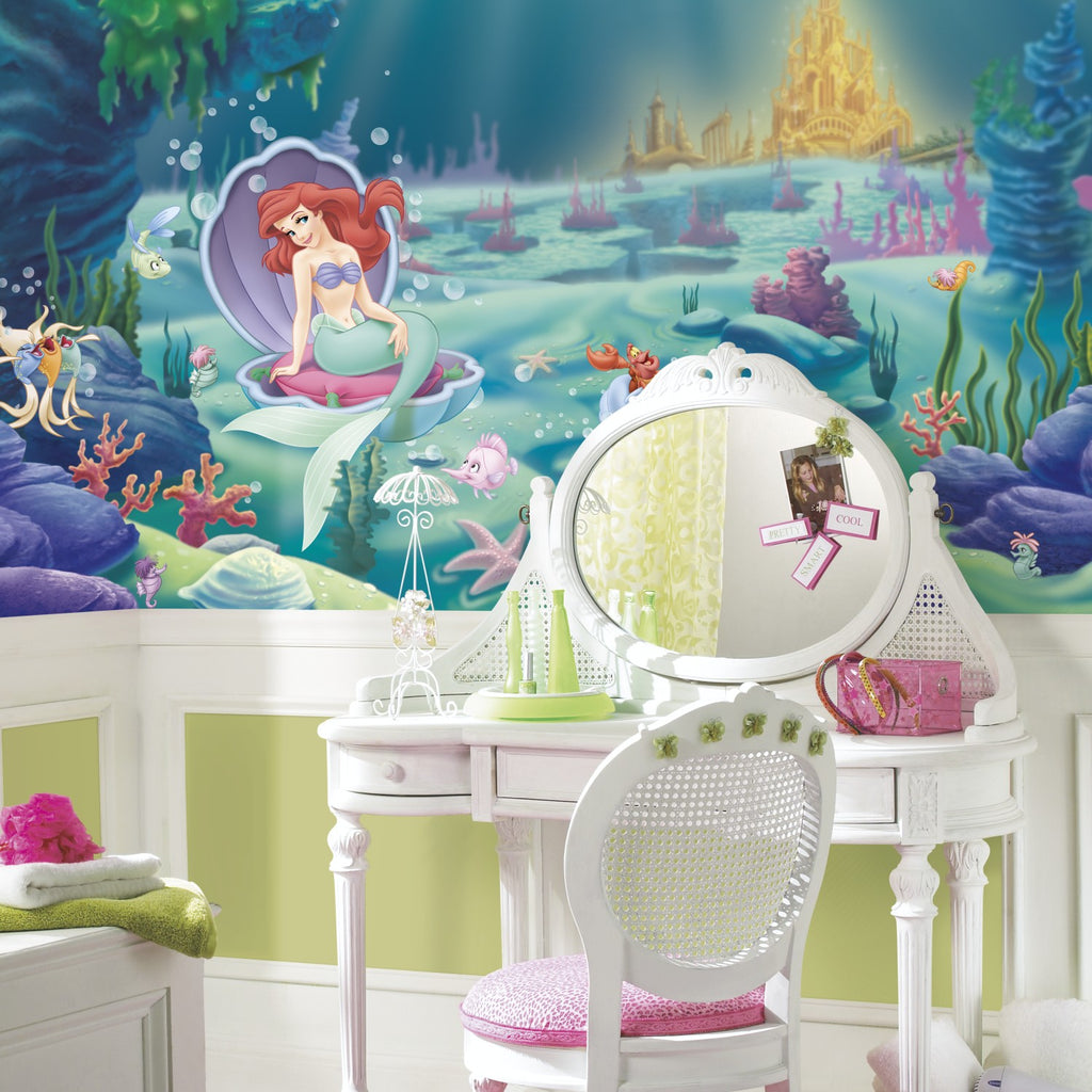 The Little Mermaid XL Wallpaper Mural 10.5' x 6' - 7ProductGroup