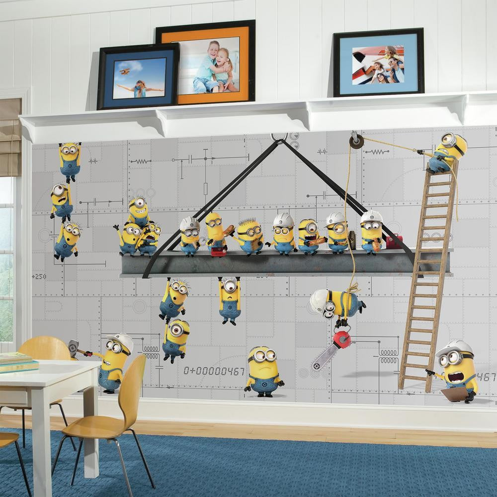 Minions at work xl wallpaper mural 105 x 6 7productgroup minions at work xl wallpaper mural 105 amipublicfo Images