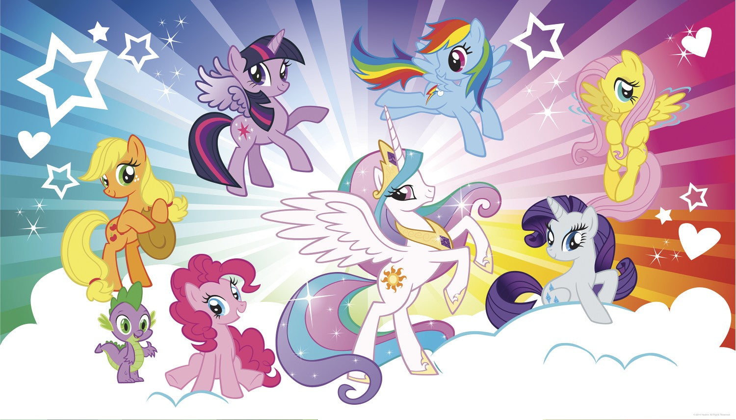 my little pony cloud burst xl wallpaper mural 10.5' x 6' | 7productgroup