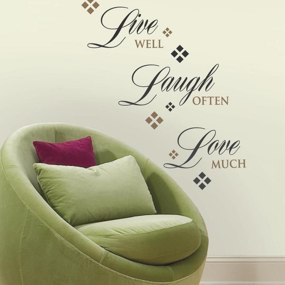 Live Love Laugh Quote Live Love Laugh Quote Wall Decals  7Productgroup