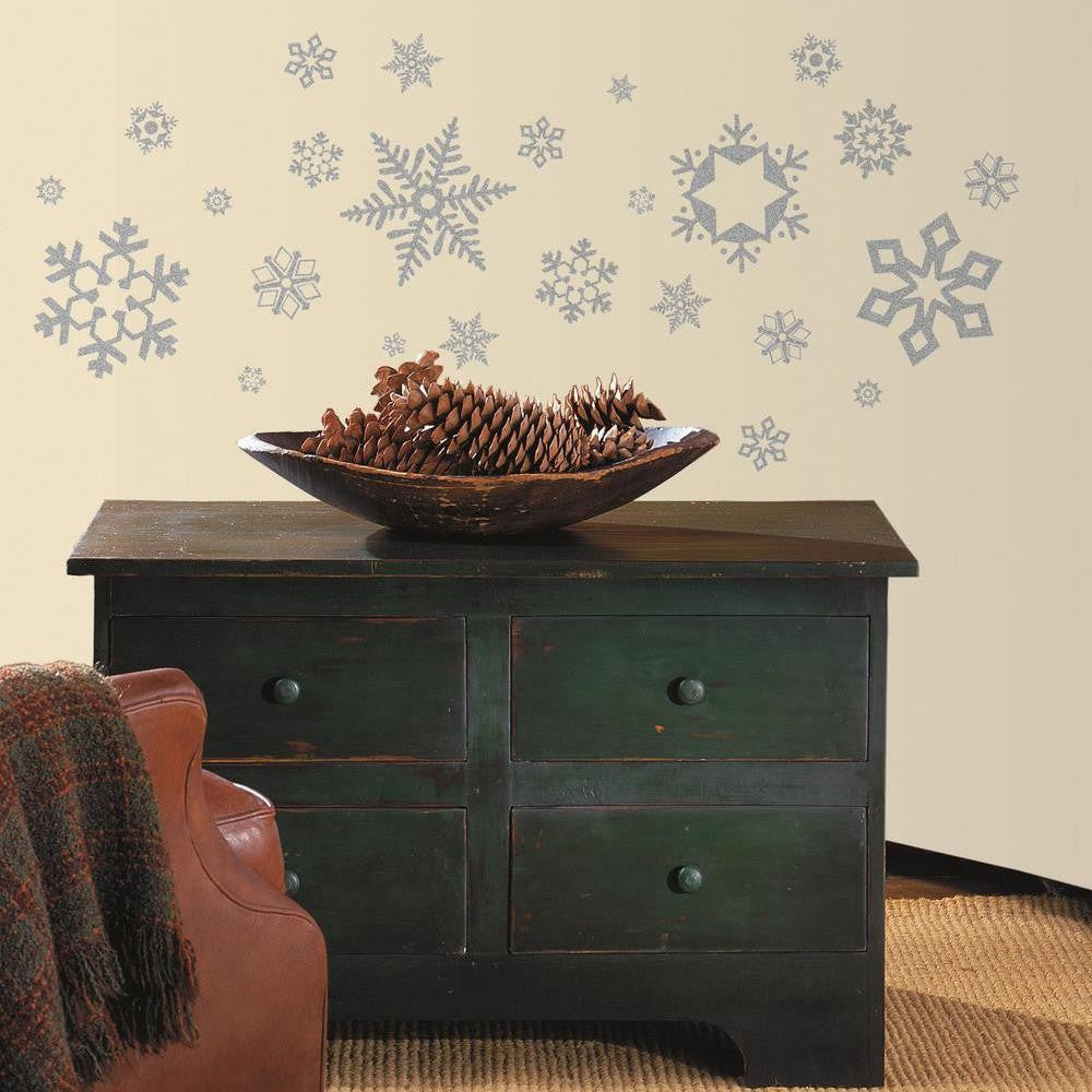 Glitter Snowflakes Wall Decals - 7ProductGroup
