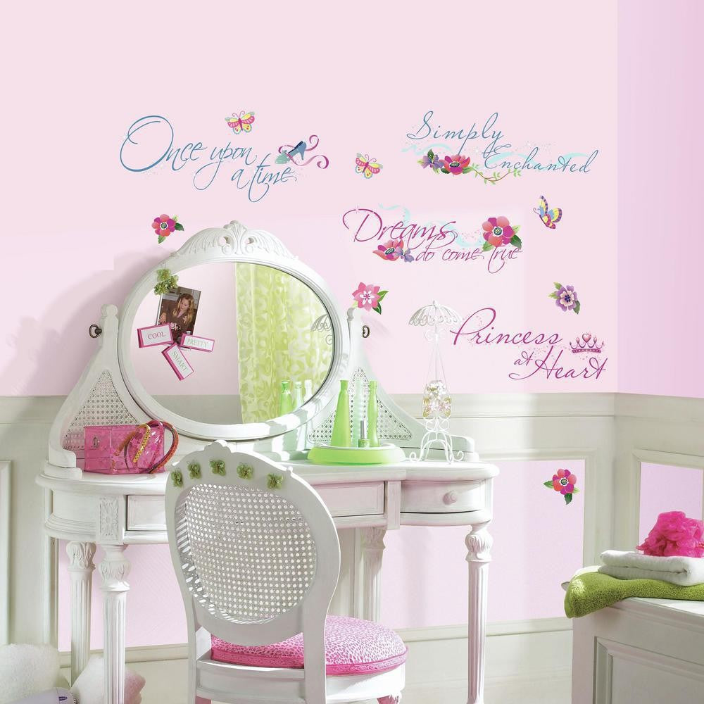 Disney Princess Quotes Wall Decals with Glitter - 7ProductGroup