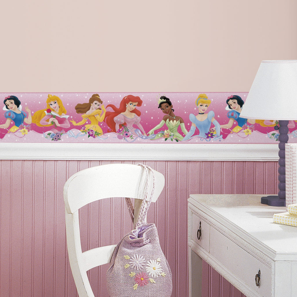 Disney Princess Dream From the Heart Pink Peel & Stick Border - 7ProductGroup