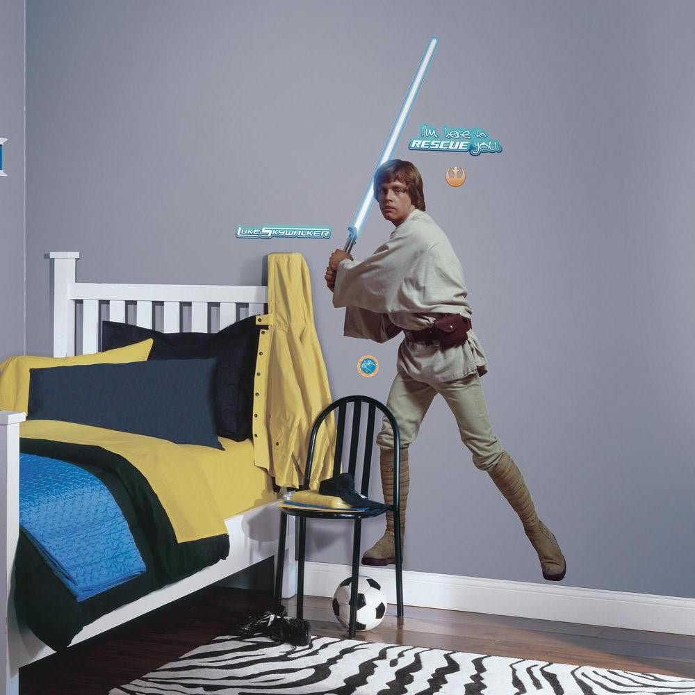 Star Wars™ Luke Skywalker™ Giant Wall Decal - 7ProductGroup