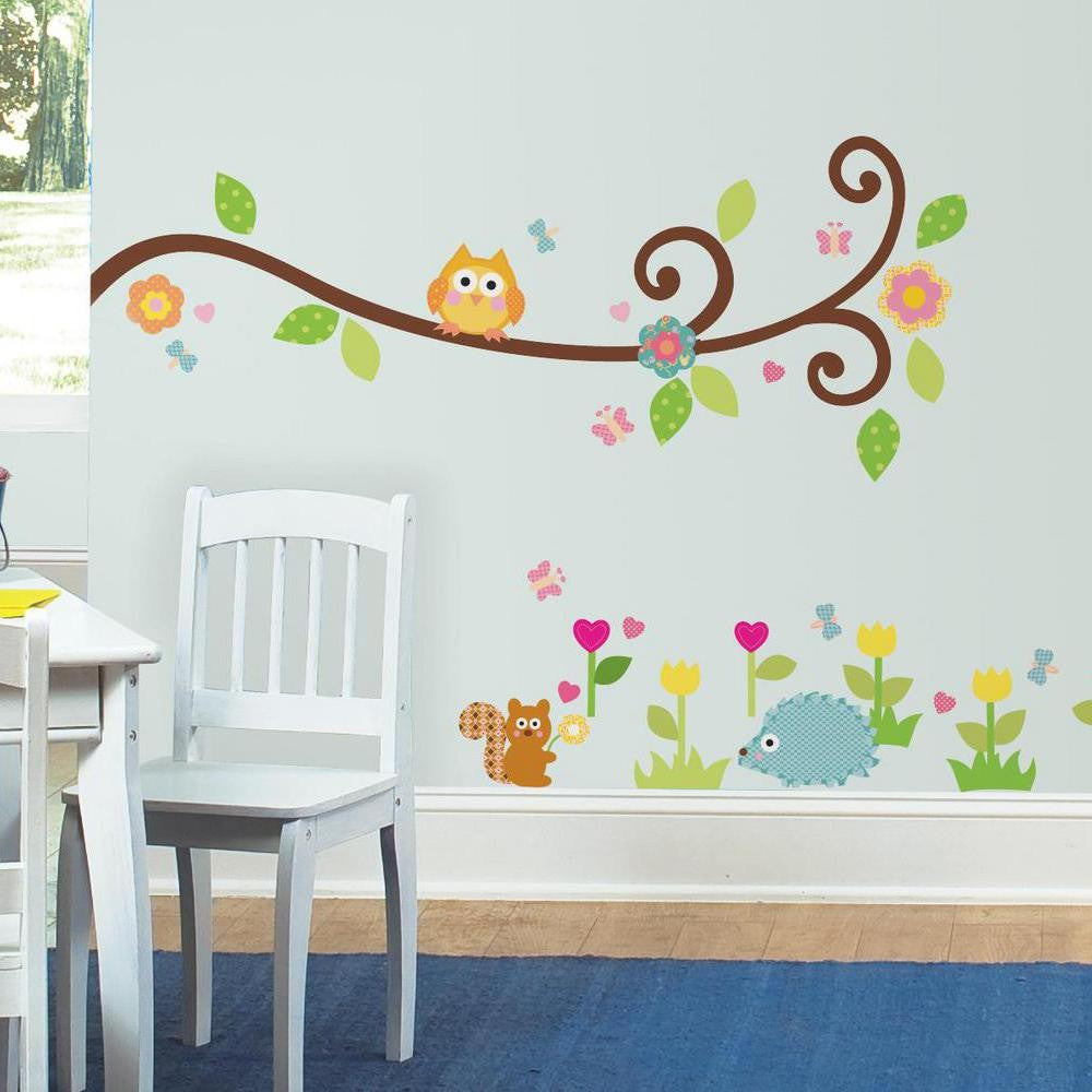 Scroll Tree Branch Wall Decals - 7ProductGroup