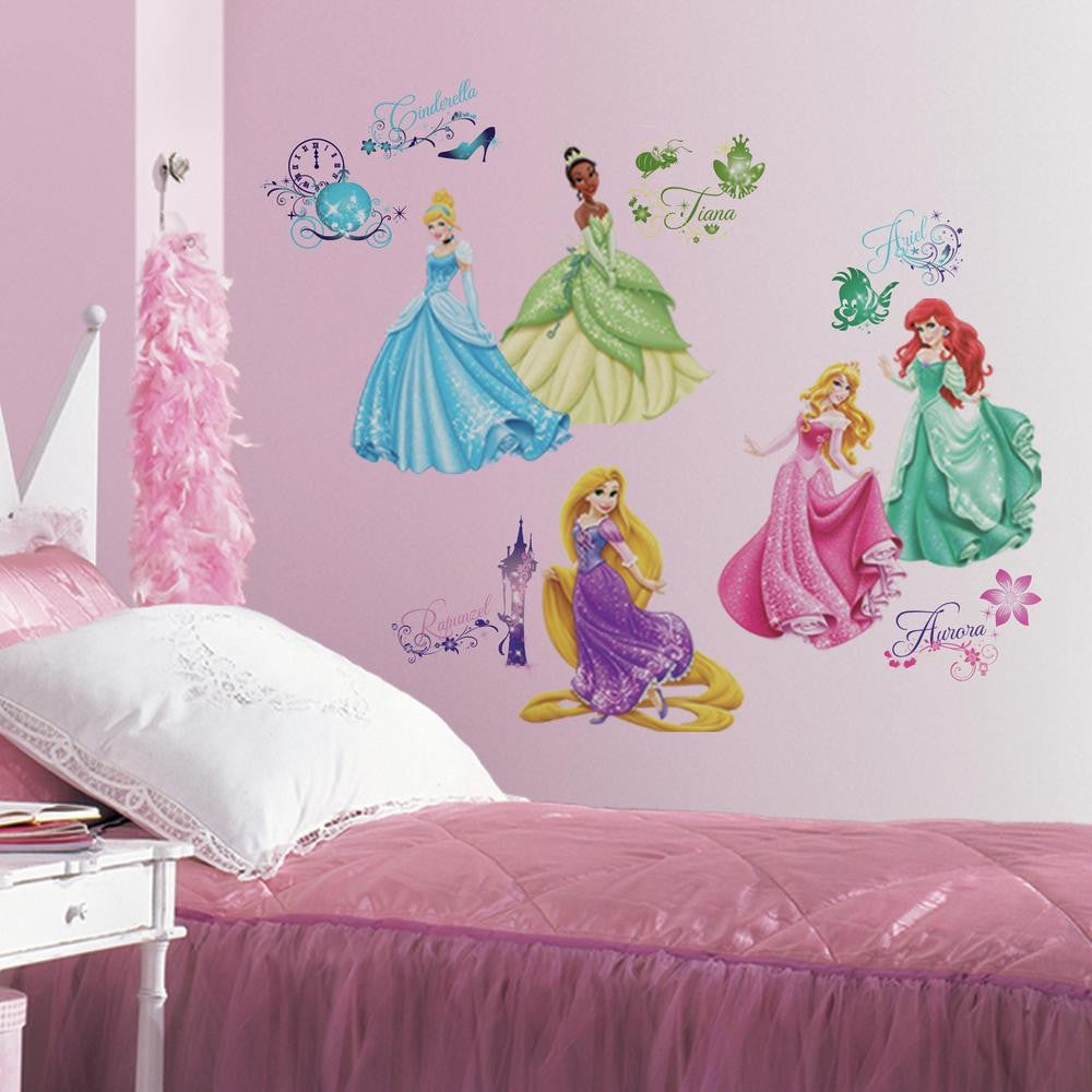 Disney Princess Royal Debut Wall Decals with Glitter - 7ProductGroup