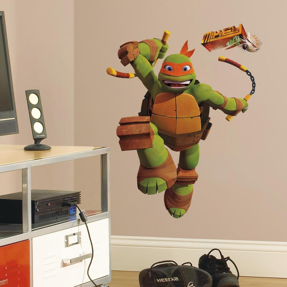 Teenage Mutant Ninja Turtles Michelangelo Giant Wall Decal - 7ProductGroup
