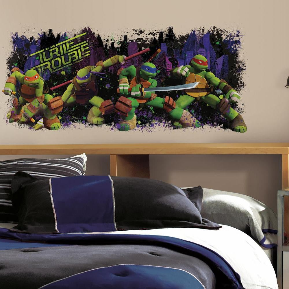 Teenage Mutant Ninja Turtles Turtle Trouble Giant Wall Decal - 7ProductGroup