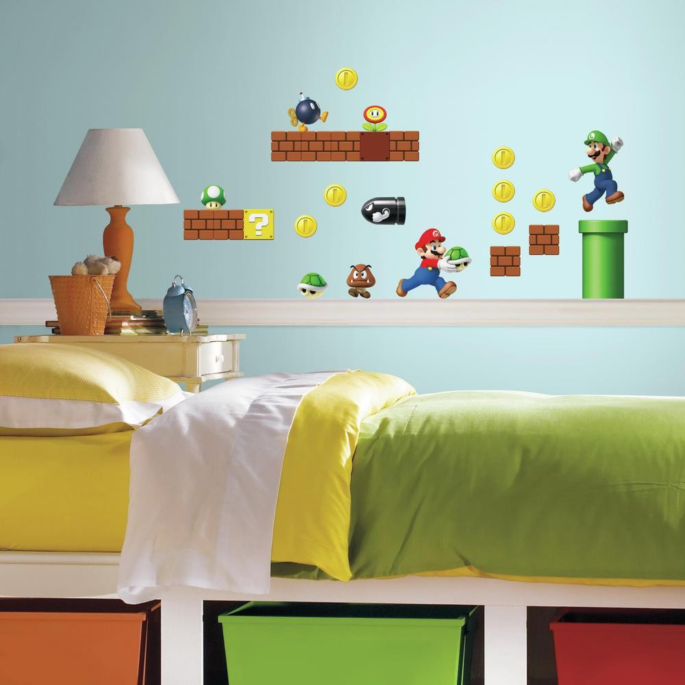 Nintendo Super Mario Bros. Build A Scene Wall Decals - 7ProductGroup