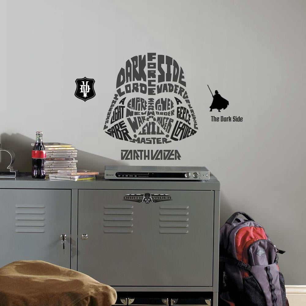 Star Wars™ Typographic Darth Vader™ Giant Wall Decal - 7ProductGroup