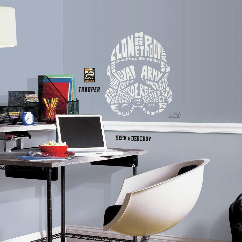 Star Wars™ Typographic Clone Trooper™ Giant Wall Decal - 7ProductGroup