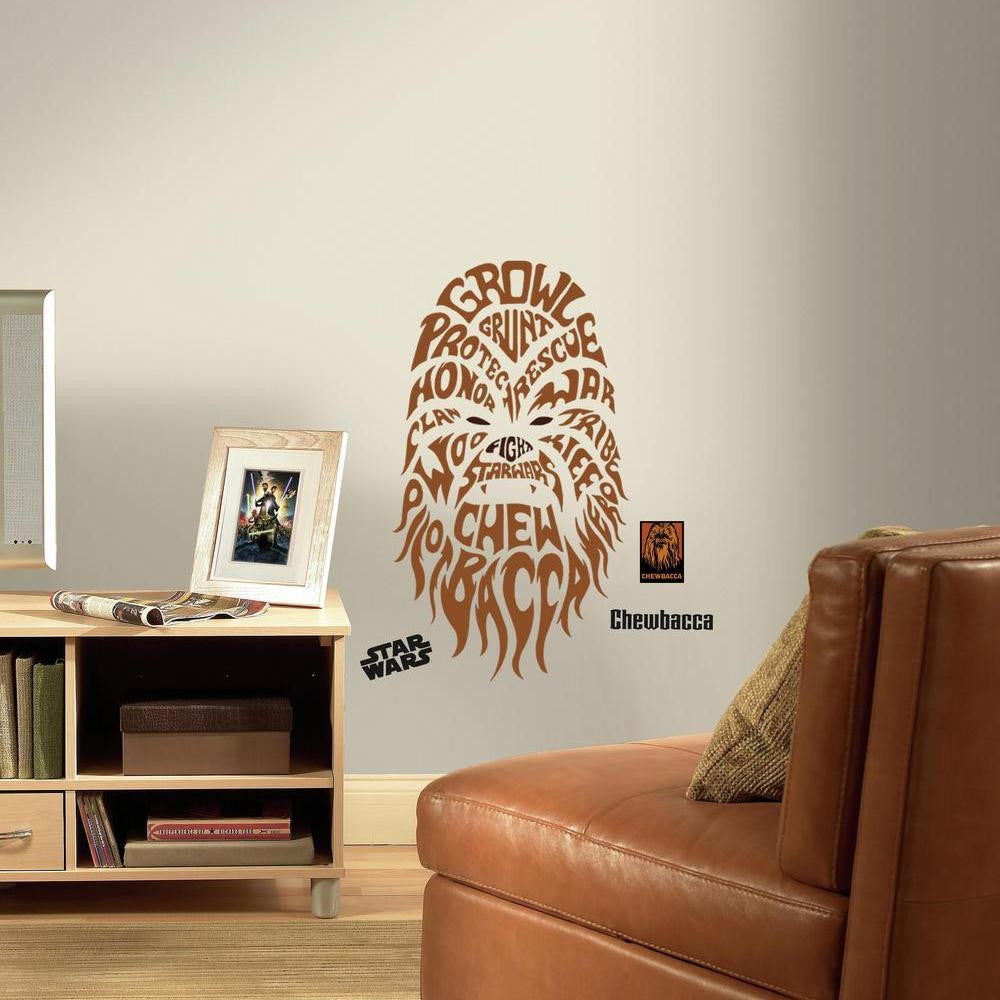 Star Wars™ Typographic Chewbacca™ Giant Wall Decals - 7ProductGroup