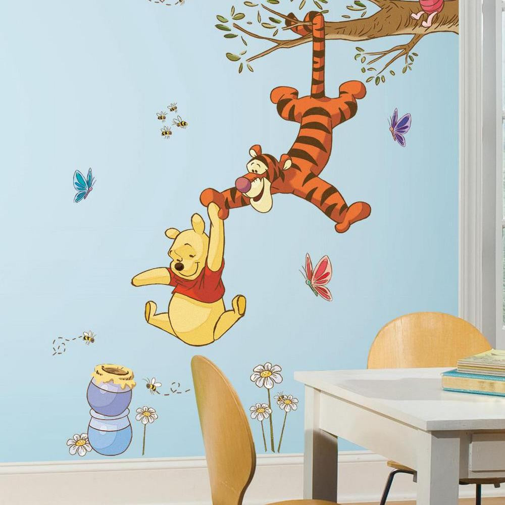 Winnie the Pooh Swinging for Honey Giant Wall Decals - 7ProductGroup