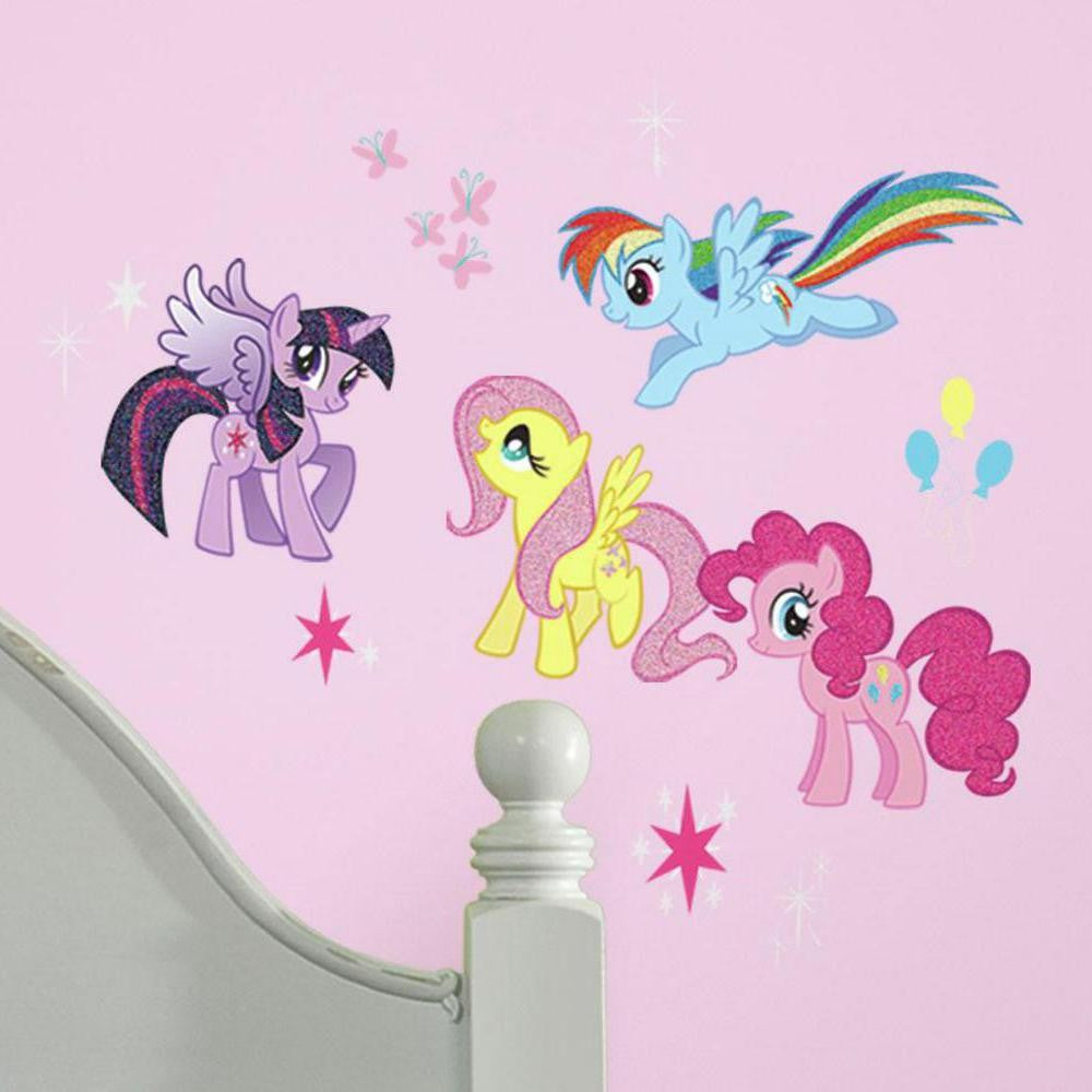 My Little Pony Wall Decals With Glitter - 7ProductGroup