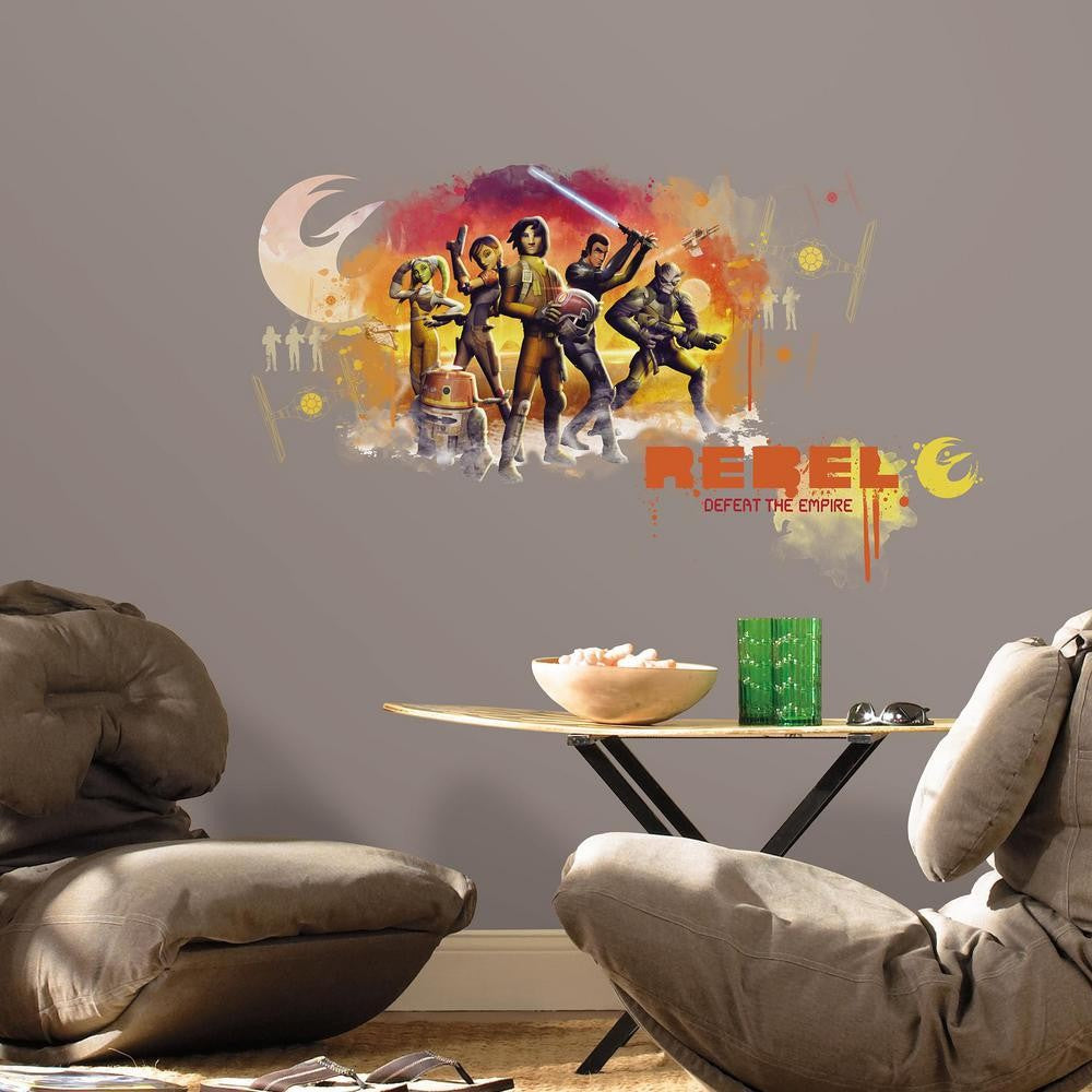Star Wars Rebels Watercolor Giant Wall Decals - 7ProductGroup