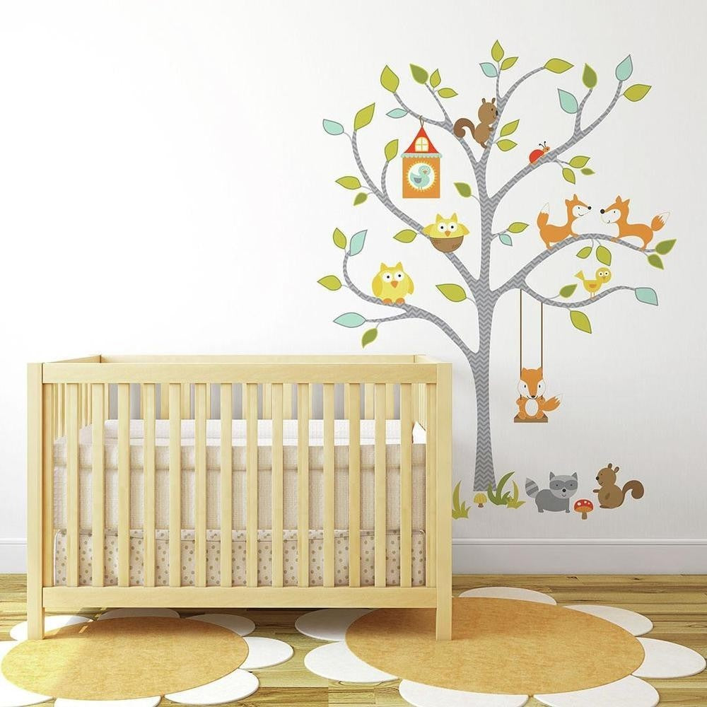 Woodland Fox & Friends Tree Giant Wall Decals - 7ProductGroup