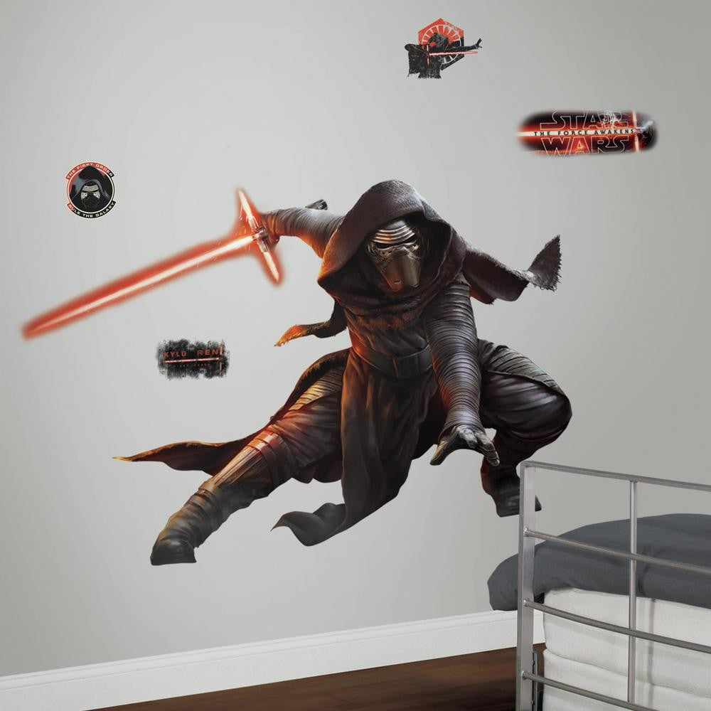 Star Wars: The Force Awakens Kylo Ren Giant Wall Decals With Glow - 7ProductGroup
