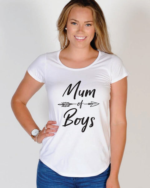 Mum Of Boys T Shirt