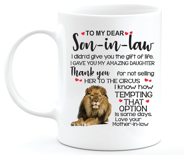 My Dear Son in Law Coffee Mug