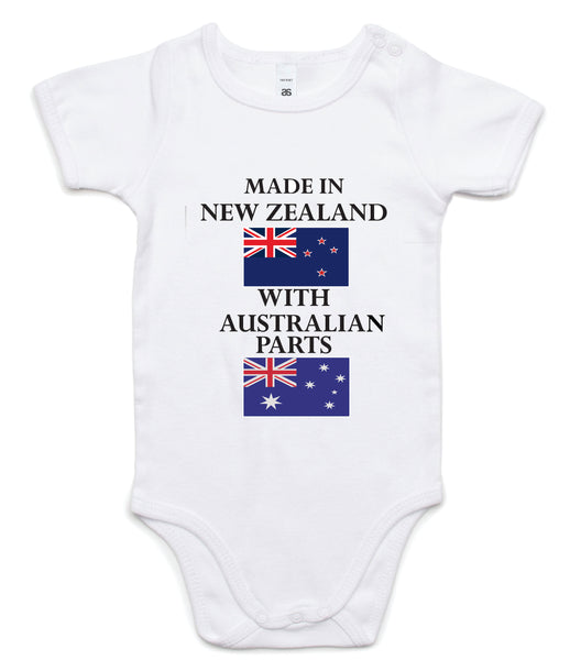 Made In New Zealand  With Australian Parts Onesie