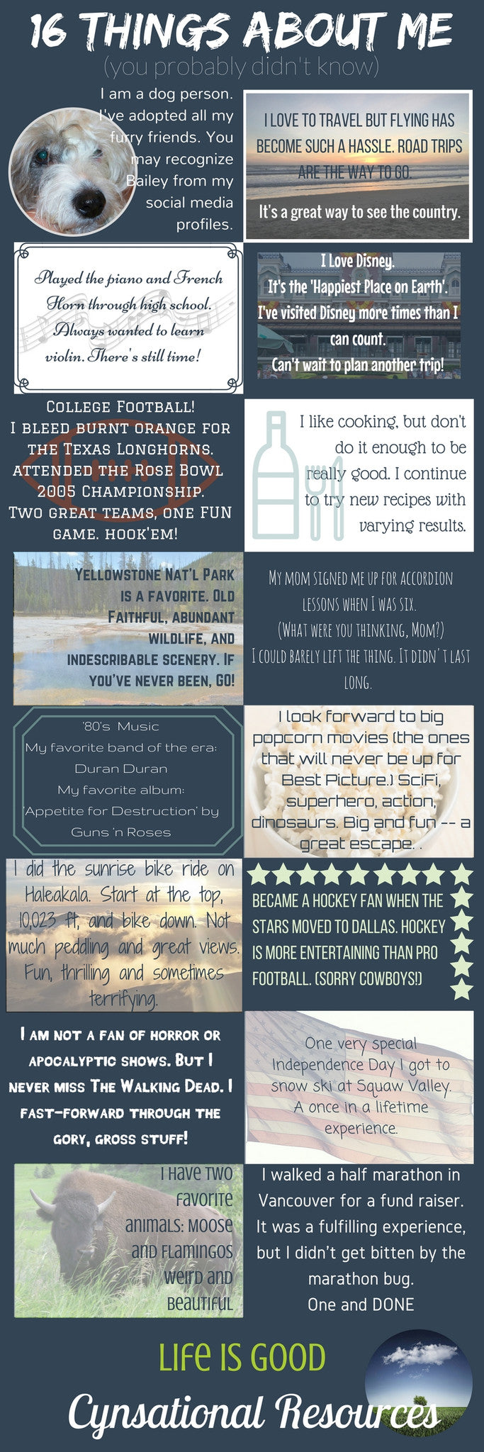 16 Fun Facts about me INFOGRAPHIC
