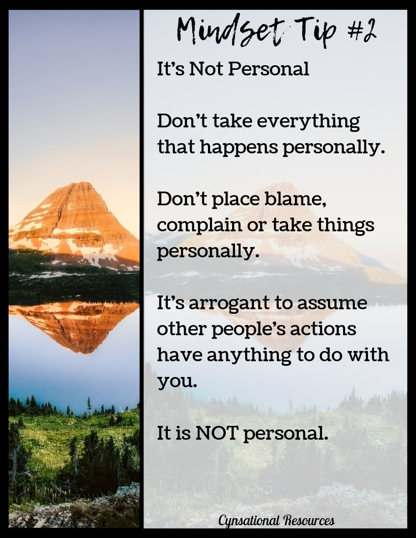 Mindset Tip #2 It's Not Personal