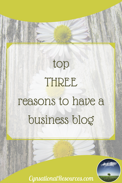 Top Three reasons to have a business blog