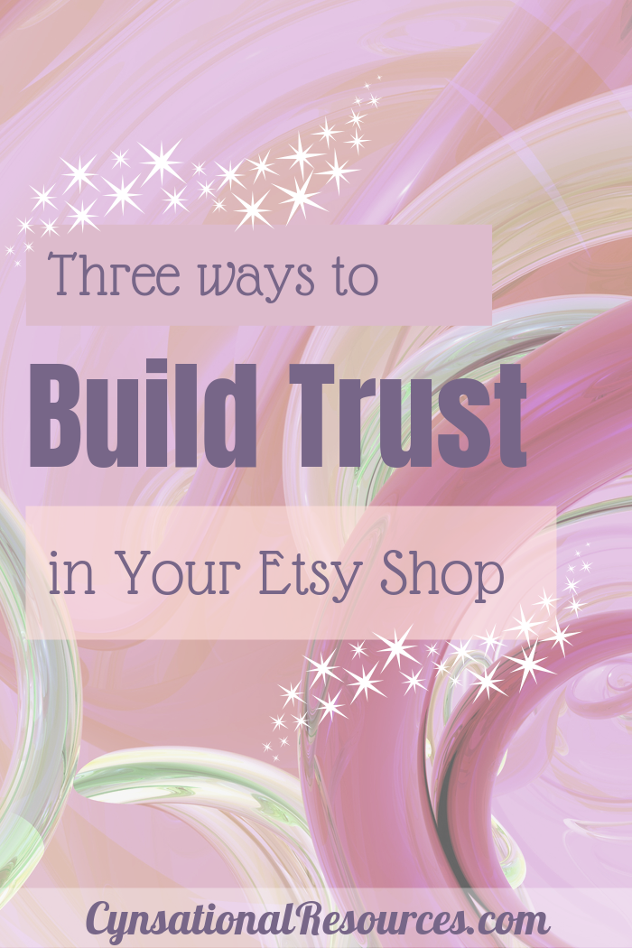 How to build trust in your Etsy Shop