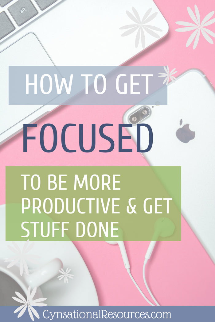 How to get focused to be more productive