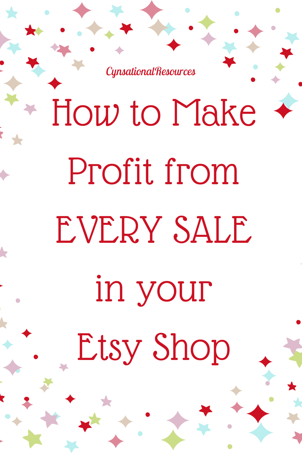 how to make a profit from every sale