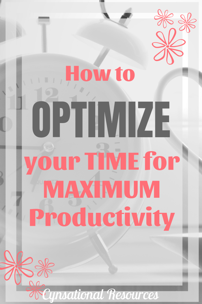 optimize your time for productivity pin3